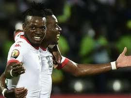 Bertrand Traore celebrating. Goal