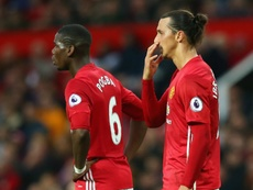 Zlatan Ibrahimovic and Paul Pobga in action for Manchester United. Goal