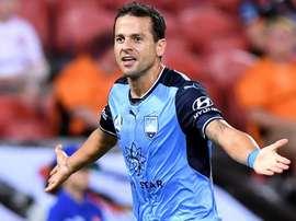 Bobo scored his 15th goal of the A-League season against Brisbane Roar. GOAL