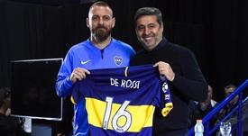 De Rossi é apresentado no Boca