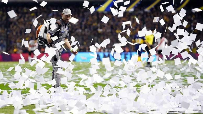 Boca x River: exagero em papel picado gera memes. Goal