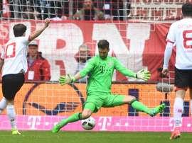 Bojan inscrit un but au Bayern Munich lors d'un but avec Mainz en Bundesliga. AFP
