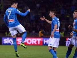Le Napoli de Maurizio Sarri a enchainé ce dimanche son troisième succès. AFP