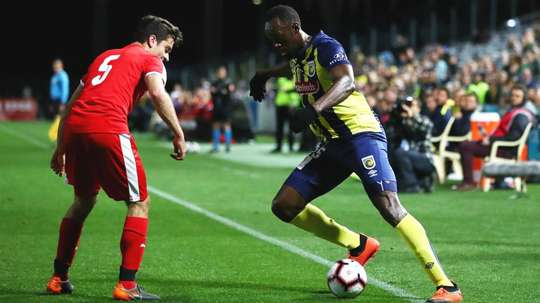 Usain Bolt is trying his hand at professional football. GOAL