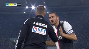 Lazio-Juventus, la frase di Bonucci al quarto uomo: 'Dagli una mano'. Goal