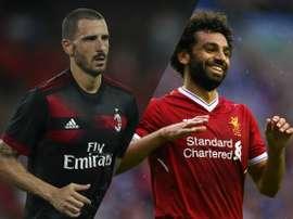 Bonucci et Salah, deux des transferts de l'été. Goal