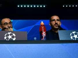 Bonucci in conferenza stampa prima del Lione. Goal