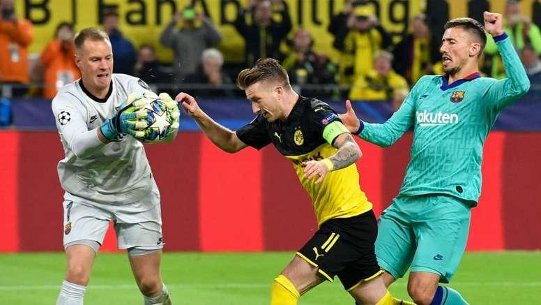 Borussia Dortmund-Barcellona 0-0: il rigore di Reus 'sbatte' su Ter Stegen. AFP