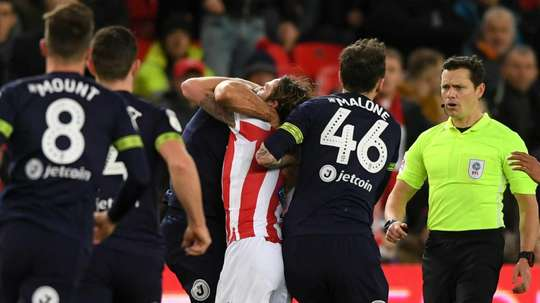 FA hands Derby's Johnson four-match ban for biting.