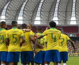 Prováveis onzes de Brasil Bolívia. Goal