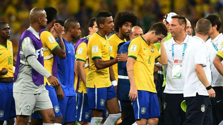 Brazil were distraught following their defeat to Germany in 2014. GOAL