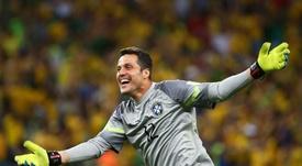 Julio César: jogo da Copa 2014 e defesa contra Messi foram meus grandes momentos. AFP