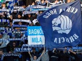 Le scuse della curva del Brescia dopo i cori contro i tifosi napoletani. GOAL