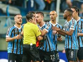 VAR Drame with Bressan pictured. GOAL
