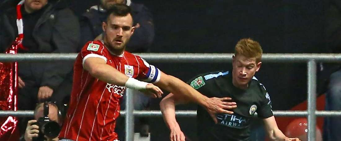 Bristol City, Bailey Wright, Manchester City, Kevin De Bruyne. GOAL