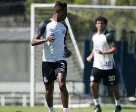 Bruno Henrique e Victor Ferraz - Santos. Goal