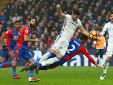 Gary Cahill in action against Crystal Palace. Goal