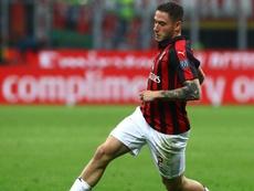 Il terzino italiano del Milan, Davide Calabria.