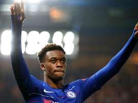 Callum Hudson-Odoi está a encantar os adeptos do Chelsea. AFP