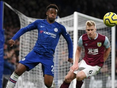 Hudson-Odoi was very happy to score his first Premier League goal for Chelsea. GOAL