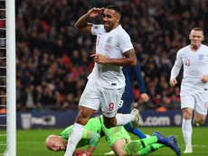 Callum Wilson scored on his England debut. GOAL