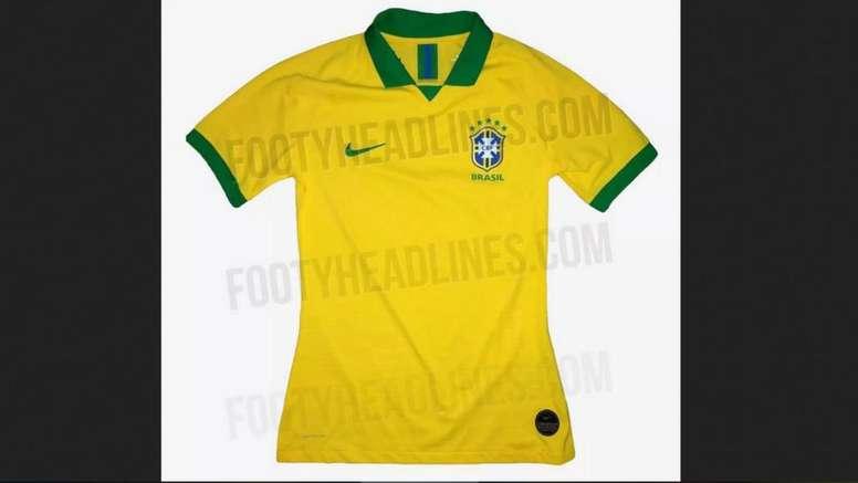 Site vaza possível camisa do Brasil para a Copa América - BeSoccer bca95c14eb3d4