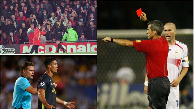 Cantona, Zidane and Ronaldo all have controversial red cards in common. GOAL