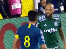 Desarmes, bate-boca com rival e vacilo no primeiro gol. Assim jogou Felipe Melo