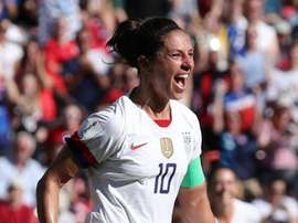 Carli Lloyd has now scored in six straight World Cup games. GOAL