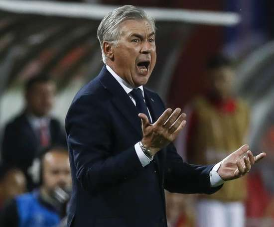Ancelotti was not happy. GOAL