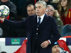 Ancelotti: Napoli owner really pleased as Italians hold Liverpool at Anfield. AFP