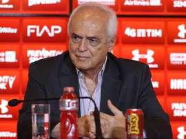 No São Paulo de Leco, demitir treinadores não trouxe títulos e manteve vexames. AFP