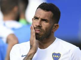 Carlos Tevez and Boca were on the receiving end of an attack from River fans. GOAL