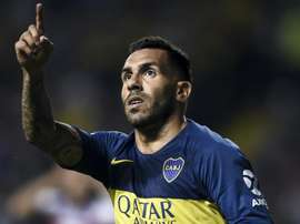 Tevez was on the bench in the first game. GOAL