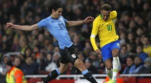 Cavani Neymar Brazil Uruguay Friendlies. Goal