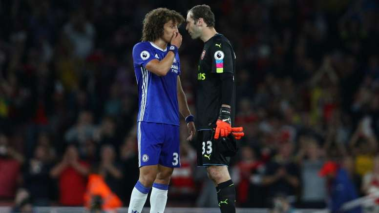 David Luiz and Petr Cech were team mates before being against each other. GOAL