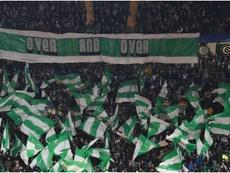A picture of Celtic fans. Goal