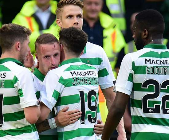 Griffiths nets on return as brilliant Bhoys take charge of tie