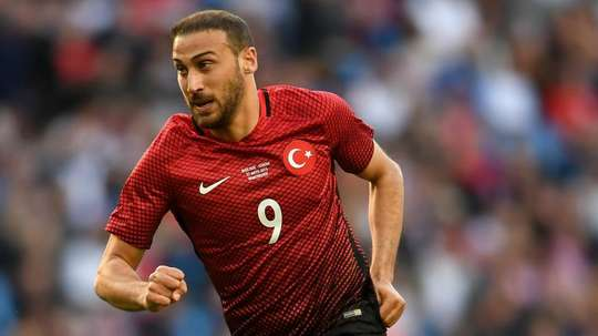 Turkey striker Tosun sorry for red card after supporter confrontation