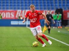 Brest pourrait officialiser son retour en Ligue 1. AFP