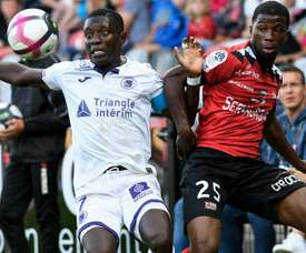 Toulouse l'emporte face à Guingamp. AFP