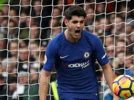 Alvaro Morata arrive en tête alors qu'Olivier Giroud est bien placé. Goal