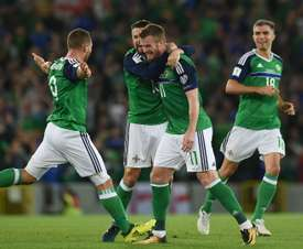 Brunt's free kick helped Northern Ireland to a 2-0 win. GOAL