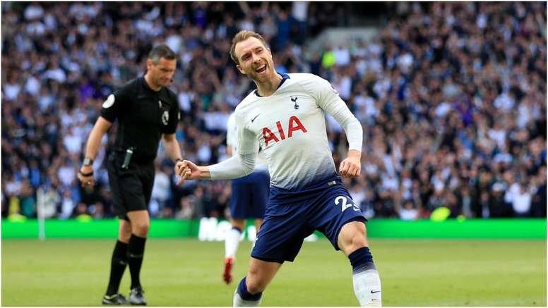 Eriksen scored the 1,067th of the Premier League. GOAL