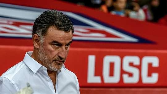 Galtier évoque les difficultés rencontrées par son équipe. AFP