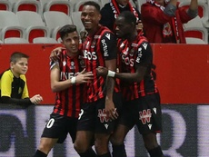 OGCN-Reims (2-0), Nice repart de l'avant. AFP