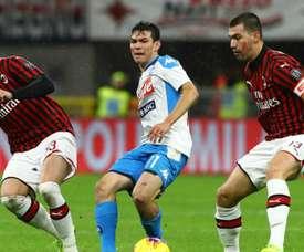 Milan-Naples (1-1), Milan stoppe la mauvaise spirale. AFP