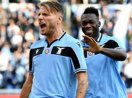 Immobile fires Lazio second as striker matches scoring mark in Serie A. GOAL