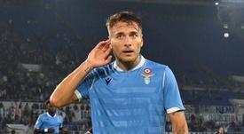 L'attaccante della Lazio e della Nazionale Immobile. Goal