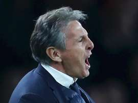 Puel is unhappy with referee Chris Kavanagh. GOAL